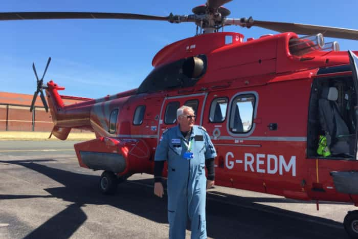 Blackpool helicopter team deliver Super Puma to Spain